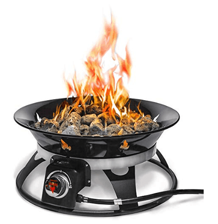 Outland Firebowl 863 Cypress Outdoor Portable Propane Gas Fire Pit