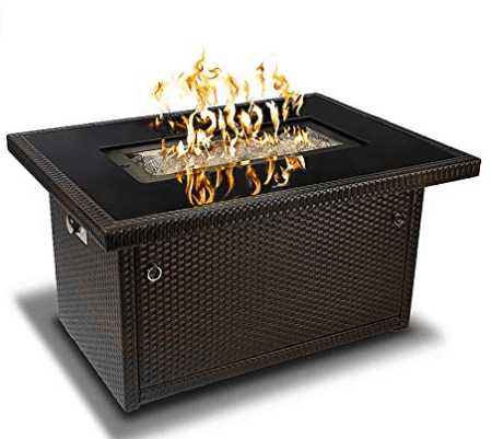 Outland Living Series 401-Brown 44 Inch Outdoor Propane Gas Fire Pit Table